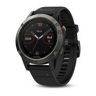 Мультиспортивные часы Garmin Fenix 5 с GPS, серые с черным ремешком (010-01688-00)