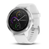 Смарт-часы Garmin Vivoactive 3 с функцией GARMIN PAY, серебристые с белым ремешком (010-01769-22)