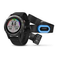 Мультиспортивные часы Garmin Fenix 5 с GPS, серые с черным ремешком и пульсометром (010-01688-30)