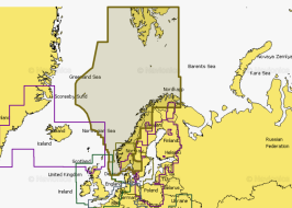 Карта Navionics 49XG Норвегия, Фьорды (49XG NORWAY)