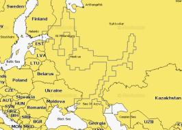 Карта Navionics 52XG Вся европейская часть России (52XG West Russia)