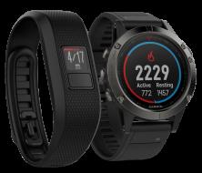 Мультиспортивные часы Garmin Fenix 5 Sapphire в комплекте с Vivofit 3 (NR010-01688-11VF3)