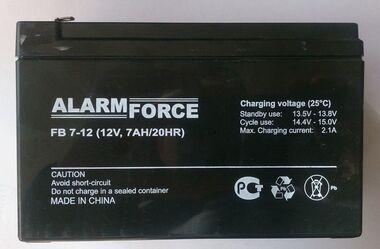 Аккумулятор свинцово-кислотный 12V 7А alarm force-1