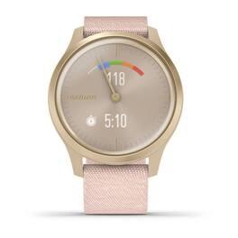 Часы с трекером активности Garmin VivoMove Style золотистый с роз. плетеным ремешком (010-02240-22) #6