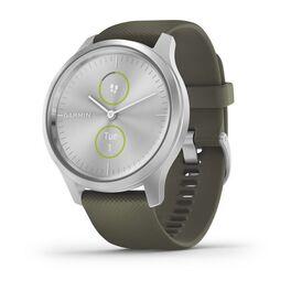 Часы с трекером активности garmin vivomove style серебристые с травяным ремешком. Артикул: 010-02240-21