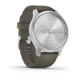 Часы с трекером активности Garmin VivoMove Style серебристый с травяным ремешком (010-02240-21) #2
