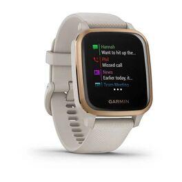 Смарт-часы Garmin Venu Sq NFC Music с золотистым безелем и песочным ремешком (010-02426-11) #1