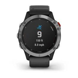 Мультиспортивные часы Garmin Fenix 6 Solar с GPS, серебристые с черным ремешком (010-02410-00) #4