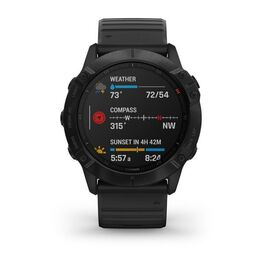 Мультиспортивные часы Garmin Fenix 6X PRO с GPS, черные с черным ремешком (010-02157-01) #3