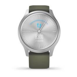 Часы с трекером активности Garmin VivoMove Style серебристый с травяным ремешком (010-02240-21) #3