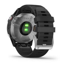 Мультиспортивные часы Garmin Fenix 6 с GPS, серебристые с черным ремешком (010-02158-00) #8