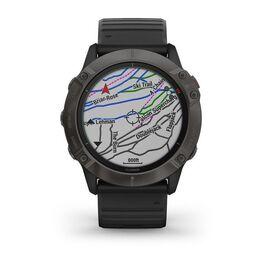 Мультиспортивные часы Garmin Fenix 6X PRO Solar с GPS, титановый с черным ремешком (010-02157-21) #3