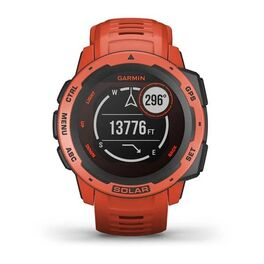 Защищенные GPS-часы Garmin Instinct Solar, цвет Flame Red (010-02293-20) #5