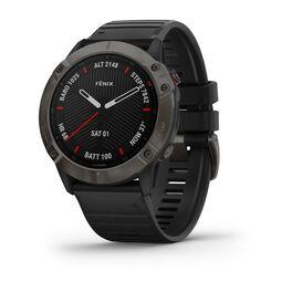 Мультиспортивные часы garmin fenix 6x sapphire с gps, серые с черным ремешком. Артикул: 010-02157-11