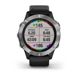 Мультиспортивные часы Garmin Fenix 6 с GPS, серебристые с черным ремешком (010-02158-00) #5