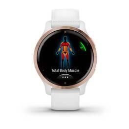 Смарт-часы Garmin Venu 2S, Wi-Fi, GPS, белые, розовое золото, с силиконовым ремешком (010-02429-13) #4