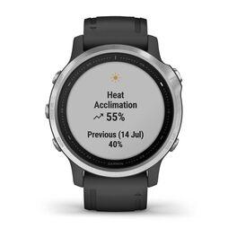 Мультиспортивные часы Garmin Fenix 6S с GPS, серебристые с черным ремешком (010-02159-01) #6