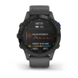 Мультиспортивные часы Garmin Fenix 6 Pro Solar с GPS, черный с серым ремешком (010-02410-11) #6