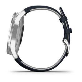 Часы с трекером активности Garmin VivoMove Luxe серебр. с итал. кож. синим ремешком (010-02241-20) #7