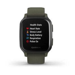 Смарт-часы Garmin Venu Sq NFC Music с серым безелем и темно-зеленым ремешком (010-02426-13) #7