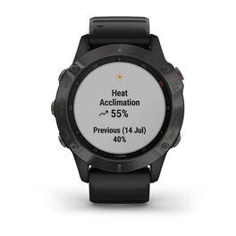 Мультиспортивные часы Garmin Fenix 6 Sapphire с GPS, серые с черным ремешком (010-02158-11) #7
