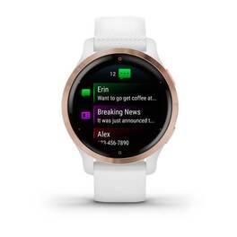 Смарт-часы Garmin Venu 2S, Wi-Fi, GPS, белые, розовое золото, с силиконовым ремешком (010-02429-13) #1