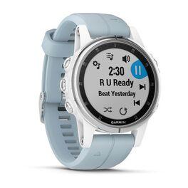 Мультиспортивные часы Garmin Fenix 5S PLUS Glass серебр./черн. с голуб. ремешком (010-01987-23) #2