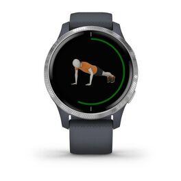 Смарт-часы Garmin Venu, Wi-Fi, Blue Granite/Silver с GPS (010-02173-03) #5