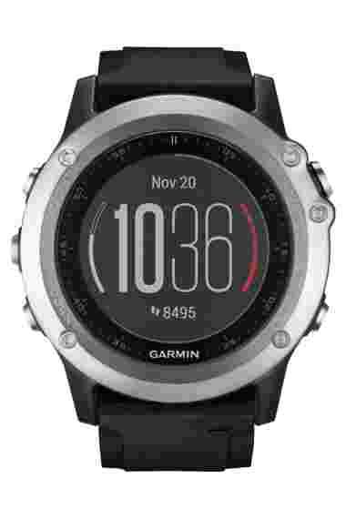 Навигатор-часы Fenix 3 HR серебрянный с черным силикон. браслетом Garmin. Артикул: 010-01338-77