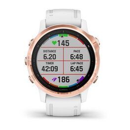 Мультиспортивные часы Garmin Fenix 6S PRO с GPS, розов.золото с белым ремешком (010-02159-11) #5