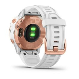 Мультиспортивные часы Garmin Fenix 6S PRO с GPS, розов.золото с белым ремешком (010-02159-11) #8