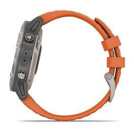Мультиспортивные часы Garmin Fenix 6 Sapphire с GPS, титановый с оранжевым ремешком (010-02158-14) #9