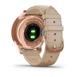 Часы с трекером активности Garmin VivoMove Luxe роз. золото PVD 18K с кожан. ремешком (010-02241-21) #5