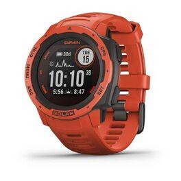 Защищенные gps-часы garmin instinct solar, цвет flame red. Артикул: 010-02293-20