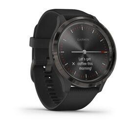 Часы с трекером активности garmin vivomove 3, черные с черным силиконовым ремешком. Артикул: 010-02239-21