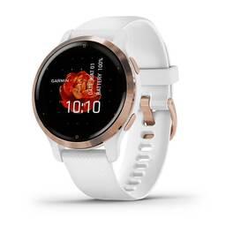 Смарт-часы Garmin Venu 2S, Wi-Fi, GPS, белые, розовое золото, с силиконовым ремешком (010-02429-13) #2