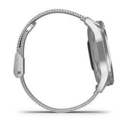 Часы с трекером активности Garmin VivoMove Luxe серебристый с серебристым ремешком (010-02241-23) #4