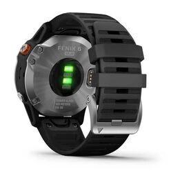 Мультиспортивные часы Garmin Fenix 6 Solar с GPS, серебристые с черным ремешком (010-02410-00) #6
