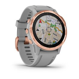 Мультиспортивные часы Garmin Fenix 6S Sapphire с GPS, розов.золото с серым ремешком (010-02159-21) #2