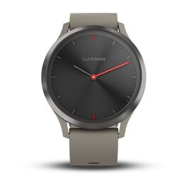 Часы с трекером активности Garmin VivoMove HR Sport, черн, песочн. сил.рем. 127-204мм (010-01850-03) #1