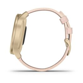Часы с трекером активности Garmin VivoMove Style золотистый с роз. плетеным ремешком (010-02240-22) #7