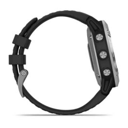 Мультиспортивные часы Garmin Fenix 6 Solar с GPS, серебристые с черным ремешком (010-02410-00) #3