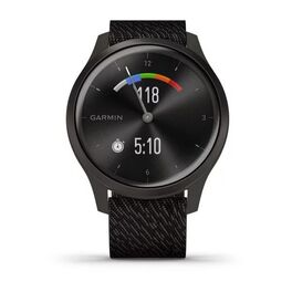 Часы с трекером активности Garmin VivoMove Style графит с плетеным черн. ремешком (010-02240-23) #5