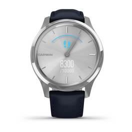 Часы с трекером активности Garmin VivoMove Luxe серебр. с итал. кож. синим ремешком (010-02241-20) #3