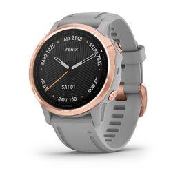 Мультиспортивные часы garmin fenix 6s sapphire с gps, розов.золото с серым ремешком. Артикул: 010-02159-21