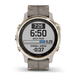 Мультиспортивные часы Garmin Fenix 6S Pro Solar GPS, золотист. с серым замш. ремешком (010-02409-26) #2