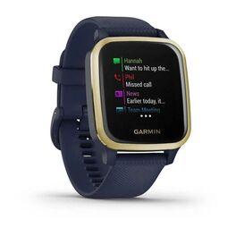 Смарт-часы Garmin Venu Sq NFC Music с золотистым безелем и синим ремешком (010-02426-12) #1