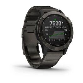 Мультиспортивные часы Garmin Fenix 6 Pro Solar с GPS, титан. DLC титан.ремешком (010-02410-23) #1