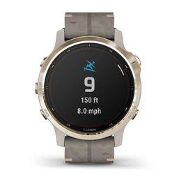 Мультиспортивные часы Garmin Fenix 6S Pro Solar GPS, золотист. с серым замш. ремешком (010-02409-26) #4