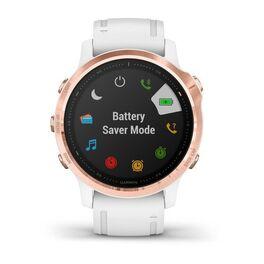Мультиспортивные часы Garmin Fenix 6S PRO с GPS, розов.золото с белым ремешком (010-02159-11) #6